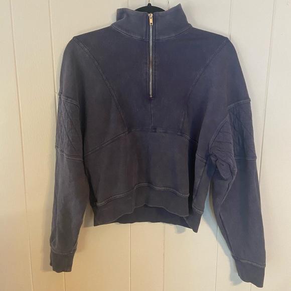 Wild Fable Cropped Half-Zip Sweatshirt